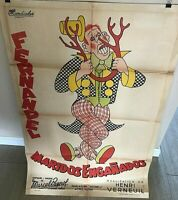 "VERY RARE ORIG. 1953 ARGENTINEAN 1 SHEET MOVIE POSTER FOR FRENCH FILM ""CARNAVAL"""