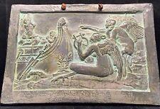 Antique Ornate Rare Ulysses Gods Greek Slate Sculpture WALL PLAQUE Relief Art