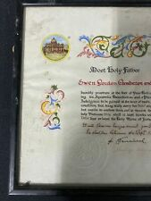 More details for 1965 illuminated petition for plenary indulgence signed pope saint paul vi (8222