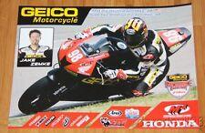 2014 Jake Zemke M4 Road Racing Honda CBR600RR Sportbike AMA poster