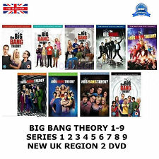 BIG BANG THEORY 1-9 SERIES 1 2 3 4 5 6 7 8 9 COMPLETE COLLECTION NEW UK R2 DVD