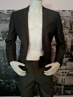 """New 2 Piece Suit Grey Malcon Chest 36"""" Small Work Funeral Wedding Prom Party"""