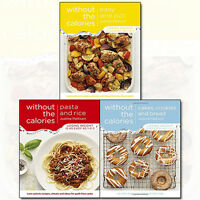 Without the Calories Collection 3 Books Set By Justine Pattison Easy One Pot NEW