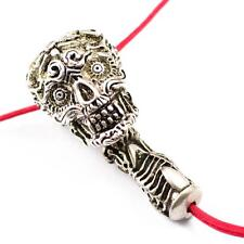 1 Set Vintage Skull Charm Pendant Guru Beads Buddhist Jewelry Findings