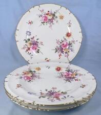 3 Royal Crown Derby Posies Dinner Plates Flowers Porcelain Posie Ely HELP