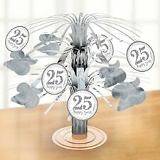 Amscan International 9902206 Sparkling Silver Anniversary Foil Centrepiece