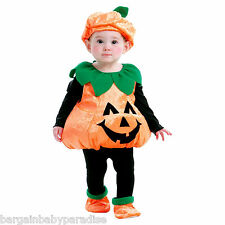 BABY TODDLER PLUSH PUMPKIN VEST COSTUME 1-2 Years HAT SHOES AND VEST ~ NWT