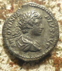 VF+ for Type: Caracalla AR Denarius (19 mm, 3.60 g), Rome, 201 AD. Captives