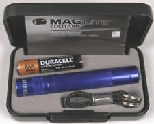 Mag-Lite AAA Solitaire Incandescent Flashlight, Blue with gift box & free post