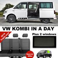 VW T6 T5 Transporter Kombi 1+1+1  conversion - in a day rear seats inc windows