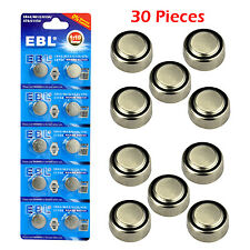 30 x AG13 LR44 L1154 357 A76 303 SR44 675 1.5V Alkaline Button Coin Cell Battery