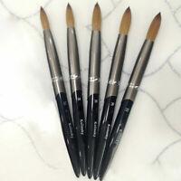 USA 100% Pure Kolinsky Acrylic Crimped Nail Brush Size 8 10 12 14 16 18 20 22 24