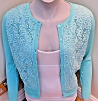 Pomodoro ladies lace front cardigan 6 colours 4 sizes fantastic quality BNWT