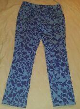 Dana Buchman Light Blue Floral Printed Skinny Jeans Size 8