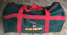 Vintage 1970s John Smiths Tadcaster Brewery Green And Red Holdall