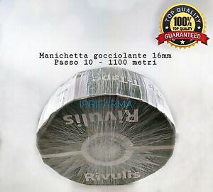 Manichetta gocciolante irrigazione 1150 metri D.16 Passo 10 T Tape ORIGINALE