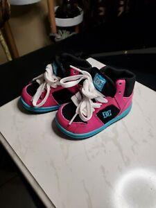 DC Toddler Shoes Size 5 Hip Hop pink/blue Skater unisex Hightop Never used