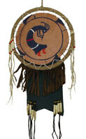 Echt Leder Indianer Lizard Wandschmuck Wallhanging Native American Schamane