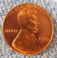 1954 P LINCOLN CENT - BU Wheat Penny