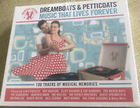 DREAMBOATS & PETTICOATS - MUSIC THAT LIVES FOREVER [4 CD] NEW & SEALED Free Post
