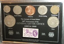Le général Lettre Postal Post Office 300th anniversaire pièce timbre Ensemble Cadeau 1960