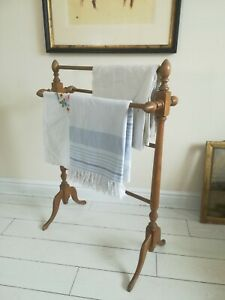 Antique Pine Towel Rail Freestanding quality C1890 Victorian delivery available