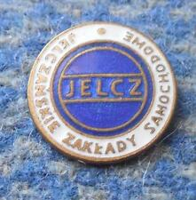 JELCZ POLAND TRUCK CARS AUTOMOBILE MANUFACTURE 1960's WHITE BLUE PIN BADGE