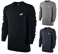 NIKE NSW SWOOSH CLASSIC FLEECE OVERHEAD CREW NECK SWEATSHIRT SWEATER JUMPER TOP