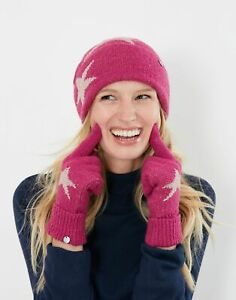 Joules Womens Vinnie Knitted Gloves - Pink - One Size