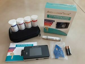 Accu Answer iSaw 4-in-1 Multi - Meter Glucose Cholesterol Uric Acid Hemoglobin