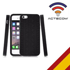 Actecom funda carcasa silicona para iPhone se 5 5S neumatico negra protector