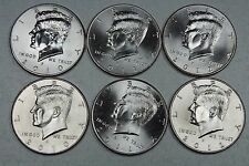 2010 2011 2012  P & D Uncirculated Kennedy Half Dollar Set from Mint Rolls