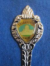 Oval Sacramento California Collectible Silver Spoon - Souvenir - State Capitol