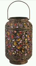 VINTAGE GRANDE GIOIELLO Ottone Metallo Lanterna marocchina Stile Floor Lampada da tavolo NUOVO