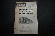 Cat Caterpillar 944 Front End Wheel Loader Owner Maintenance Manual Book Guide