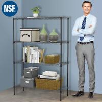 """Wire Shelving 36""""x14""""x54"""" 4 Tier Layer Shelf Adjustable Steel Metal Rack Black"""