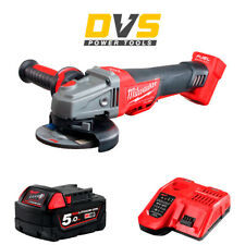 Milwaukee M18CAG115XPDB-0 M18 Fuel Brushless Angle Grinder 5Ah Battery, Charger