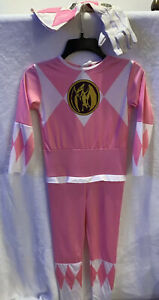pink power ranger costume kids + Gloves