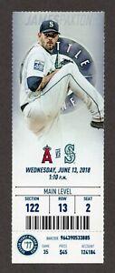 DAVID FLETCHER MLB DEBUT 1ST HIT RBI Mariners Angels 6/13/2018 Full Ticket 1977