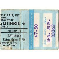 ARLO GUTHRIE & RAMBLIN JACK ELLIOT Concert Ticket Stub 7/7/79 SHELTON CT Rare