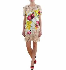 Cotton Blend Round Neck Short Sleeve Party Dresses for Women