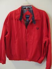 Catalina Red Vintage Cotton Jacket Mens Size Large Cotton Lined