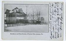 Residence Greenhouses Burton Park JERMYN PA Vintage Lackawanna County Postcard