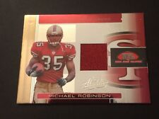 Michael Robinson 49ers Penn State 2006 Donruss Jersey Authentic Certified JG7