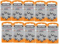 60x Rayovac tipo 13 extra Advanced hörgerätebatterien pilas de botón --- nuevo embalaje original