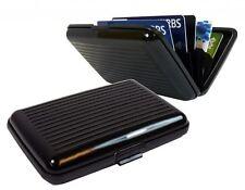 New Aluminum Metal Credit Card Holder Wallet Case Box Protector Pocket Black
