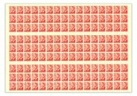 Australia 1951 3d KGVI Red Booklet Full Sheet 144 Stamps SG235(BW251c) MUH 8-18
