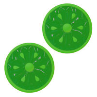 Swimline 60-Inch Inflatable Heavy-Duty Swimming Pool Lime Slice Float (2 Pack)