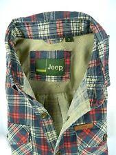 Jeep Motors 4x4 Plaid Multi Color Button Front Long Sleeve Shirt Mens Small