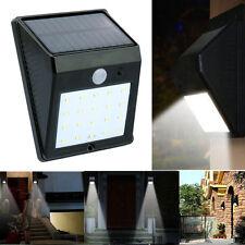20LED Solar Powered PIR Motion Sensor Lamp Outdoor Waterproof  Wall Light US